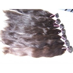 Straight natural color hand tied weave