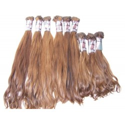 Double drawn very straight golden brown blond hand tied weave