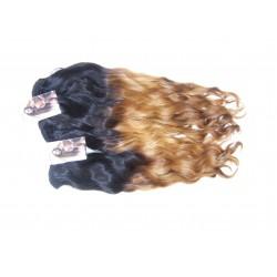 Wavy/golvend double color handgemaakte weave