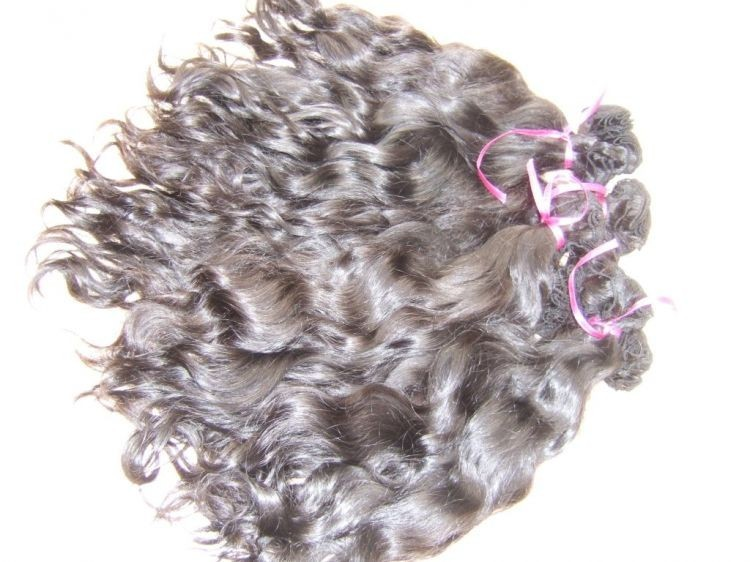 Wavy natural color hand tied weave wholesale offer