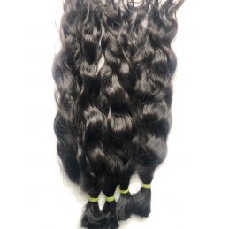 Bulk Hair Wavy natural color