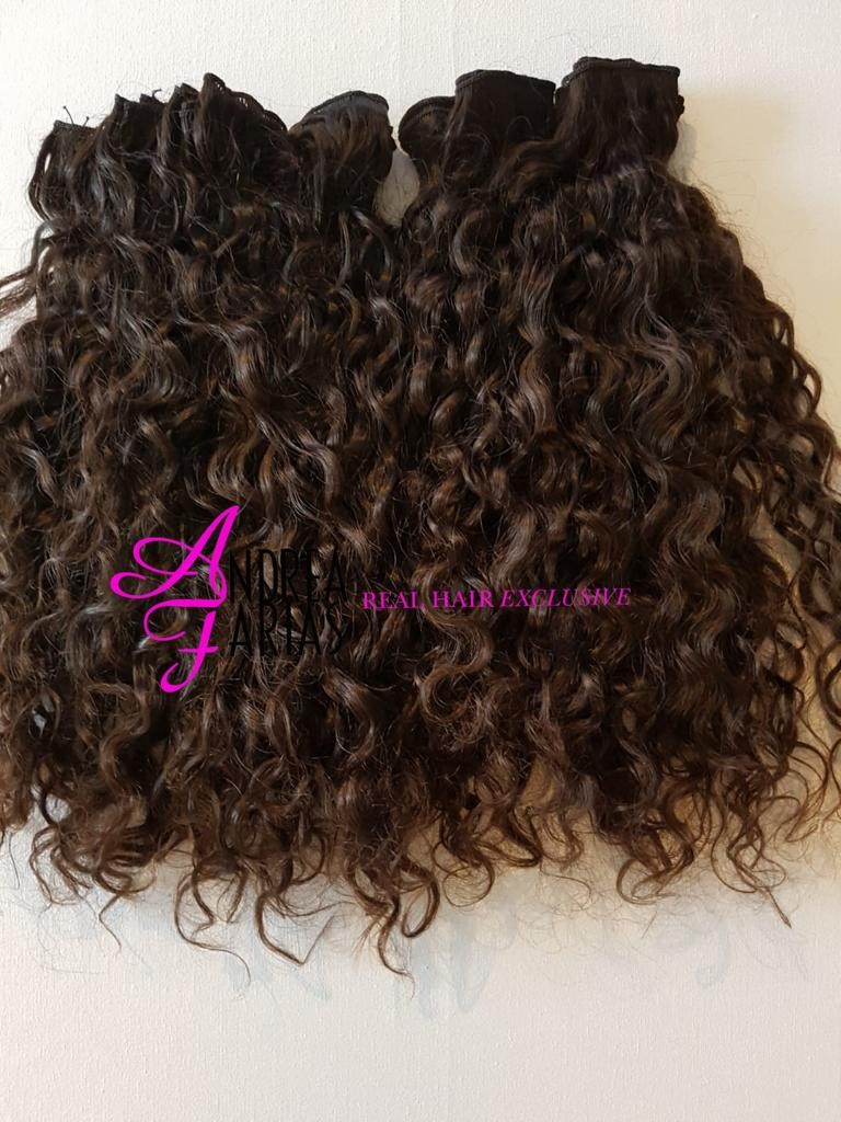 HANDTIED WEAVE - NATURAL COLOR - CURLY
