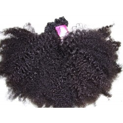 Afro kinky natural color hand tied weave
