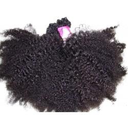 Afro kinky tissage fait main couleur naturelle