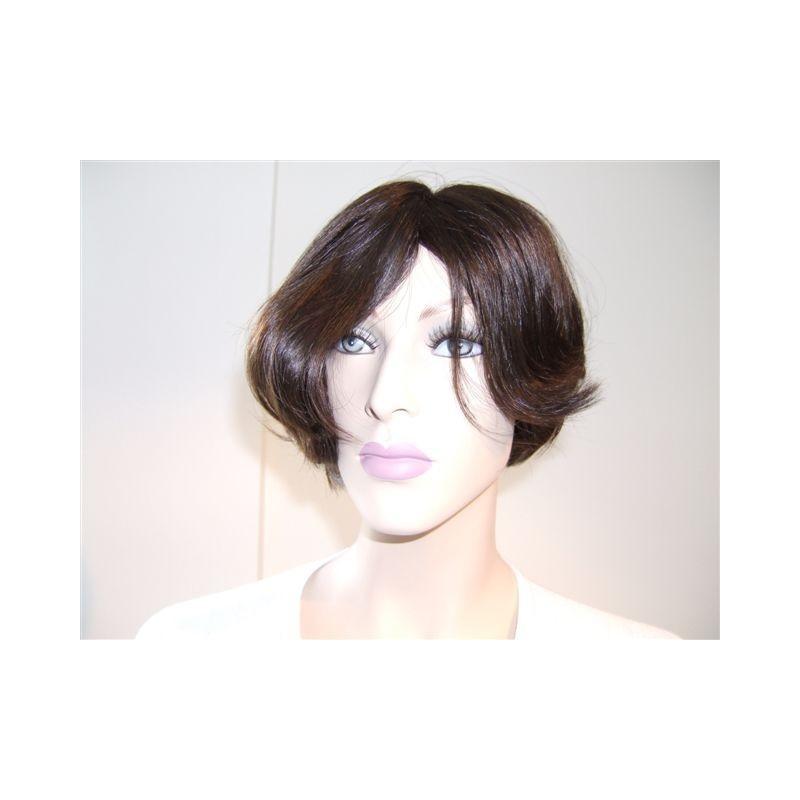 Straight natural hair, machine back weft
