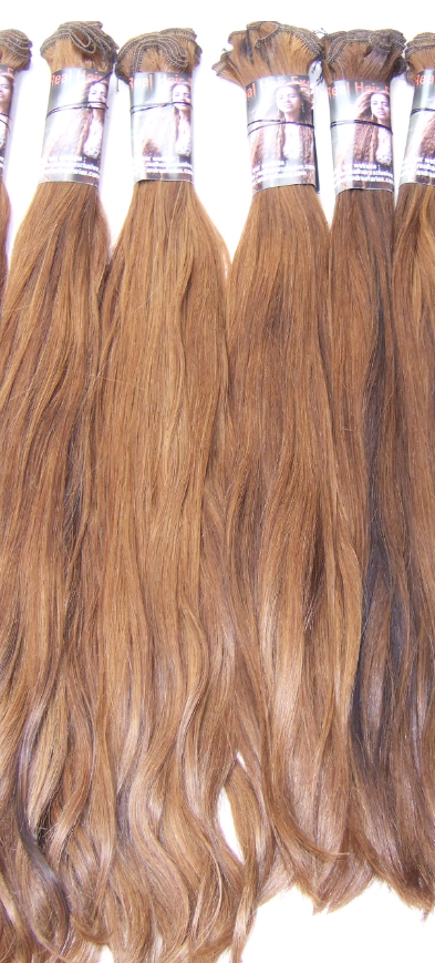 HANDTIED WEAVE - DOUBLE DRAWN - GOLDEN BROWN BLOND - STRAIGHT