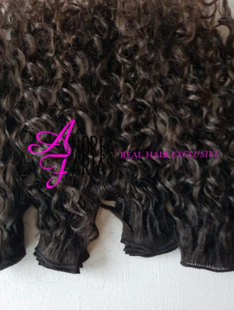 HANDTIED WEAVE - NATURAL COLOR - KINKY CURLY
