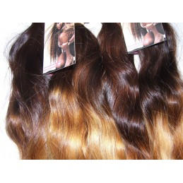 Straight double color hand tied weave
